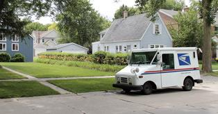 Image of a US mail truck.