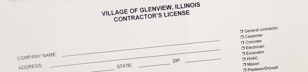 village of glenview | business contractor license